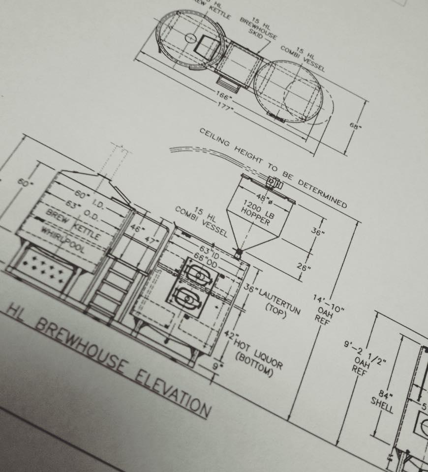 ビール設備の配置図面を現場で確認!!