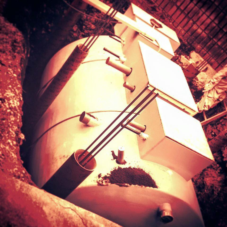 7,000リットルの排水処理システム / ブルワリーの地中ステーション