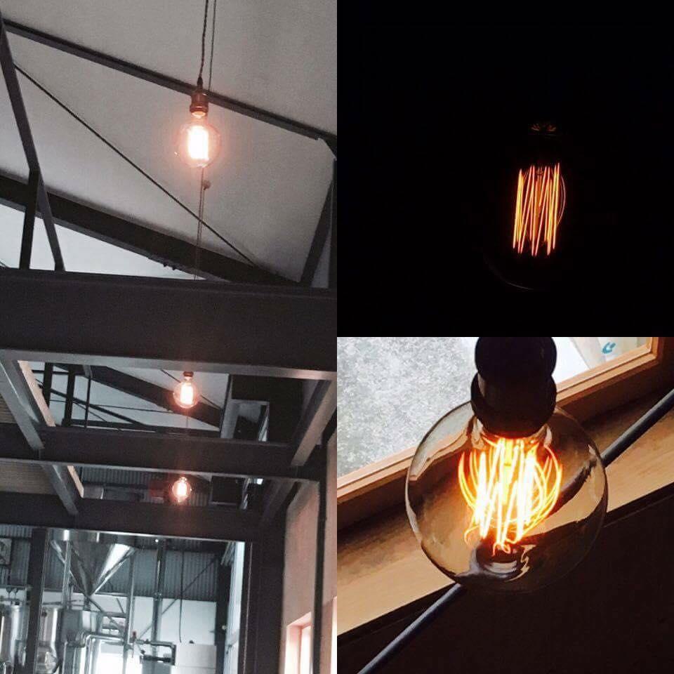 ブルワリーの照明 / エジソン電球