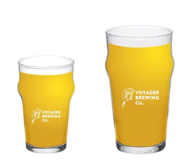 ロゴ入りビアグラス完成 / UK PINT BEER GLASS & UK HALF PINT BEER GRASS