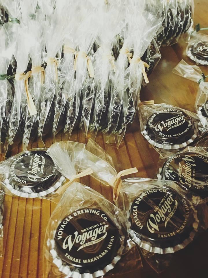 ボイジャーオリジナル ビールの王冠マグネット。
